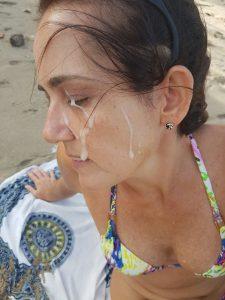 Am Strand Sperma Im Gesicht