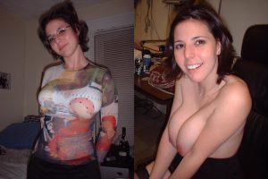 Angela Angezogen Und Nackt