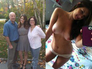 Exfreundin Exposed Mit Ihren Eltern Nackt Selfie
