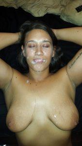 Bukkake Sperma Gesicht Und Titten