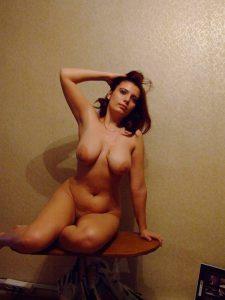 Erotische Pose Auf Privatem Nacktfoto
