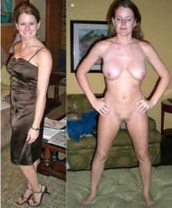Milf Angezogen Und Nackt