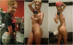 Schwarze Frau Selfies Nackt
