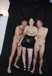 Swinger Club Schlampe Joyclub Nackt Mit Zwei Maennern