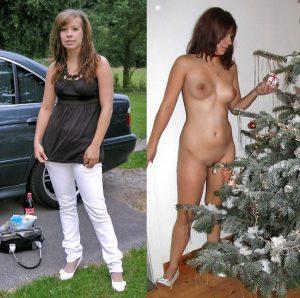 Exfreundin Nackt Am Weihnachtsbaum
