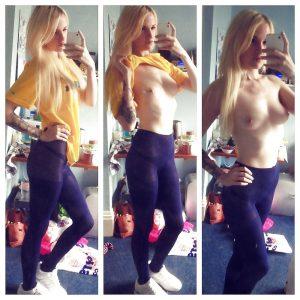 Sexy Sportliche Frau Zeigt Ihre Brueste
