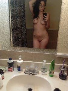 Im Spiegel Selber Nackt Fotografiert Frau Sexy Freundin Amateur
