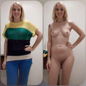 Mit Und Ohne Klamotten Nacktfoto Privat