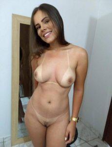 Bikini Abdruck Frau Nackt