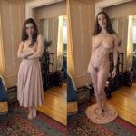 Alice Mit Und Ohne Kleid Nacktfoto Privat