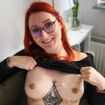 Recklinghausen Nacktfotos Sperma Auf Den Titten Sexy Frau Mit Brille